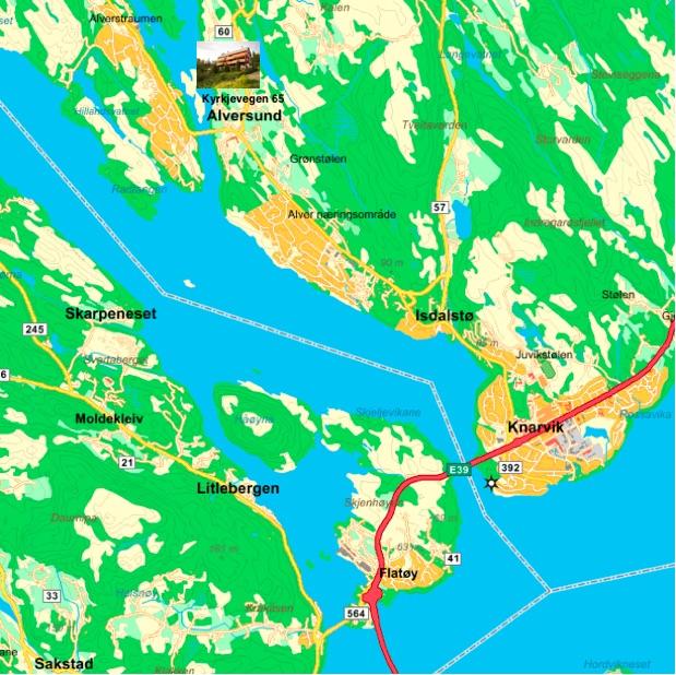 Gallerialversund Kyrkjevegen 65 5911 Alversund